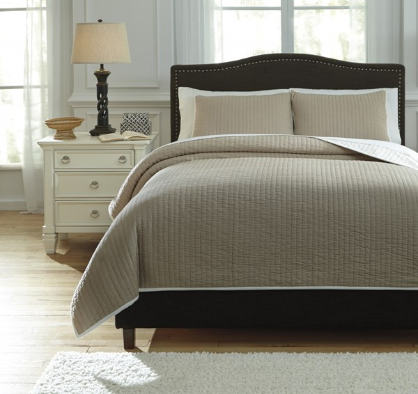 Orson Traditional Classics Natural Fabric Queen Coverlet Set Q735003Q
