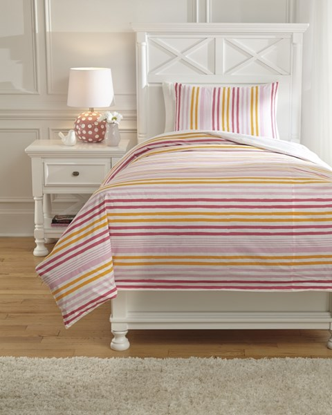 Genista Youth Fabric Striped Twin Duvet Cover Set Q741001T