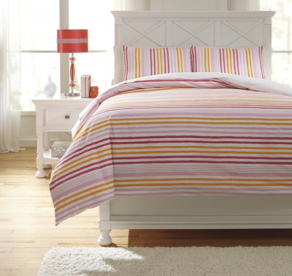 Genista Youth Fabric Striped Full Duvet Cover Set Q741003F