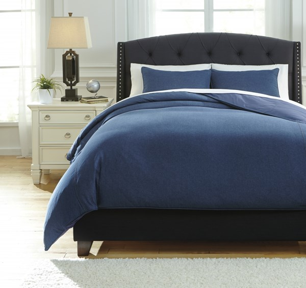 Sensu Vintage Casual Denim Fabric Queen Duvet Cover Set Q742003Q