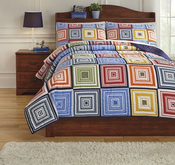 Tazzoni Youth Fabric Hand Quilted Full Coverlet Set Q744003F