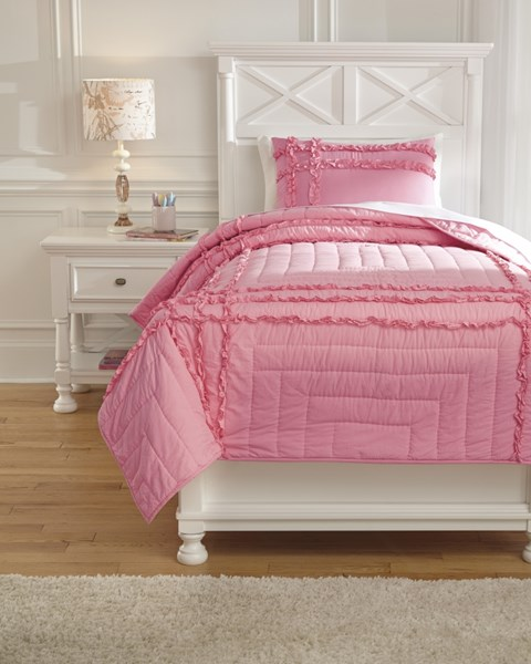 Megara Youth Pink Fabric Machine Washable Quilt Set Q74700-DCS-VAR