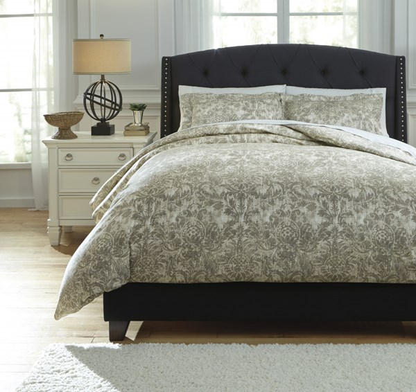 Kelby Traditional Classics Natural Fabric King Duvet Cover Set Q751003K