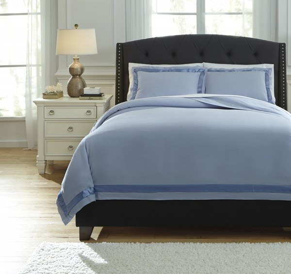 Farday Traditional Classics Soft Blue King Duvet Cover Set Q755023K