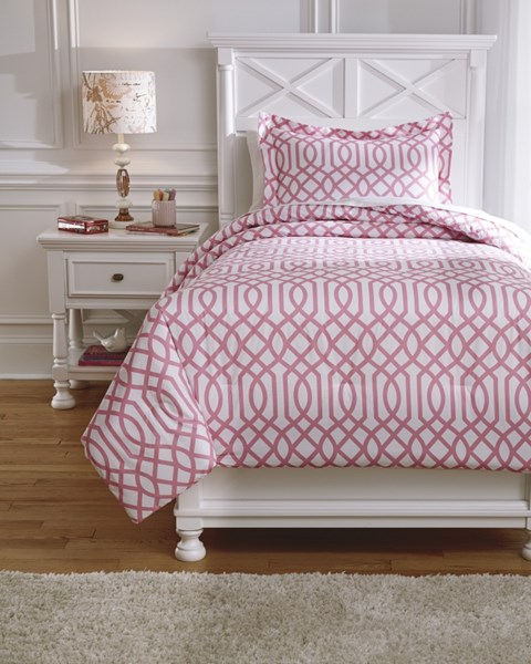 Loomis Youth Pink Twin Comforter Set Q758011T