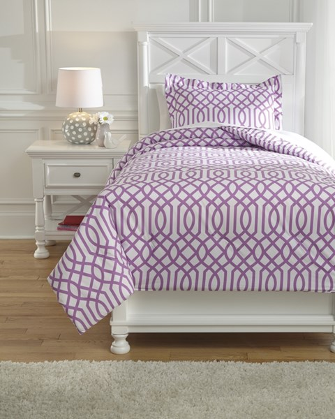 Loomis Youth Lavender Twin Comforter Set Q758021T
