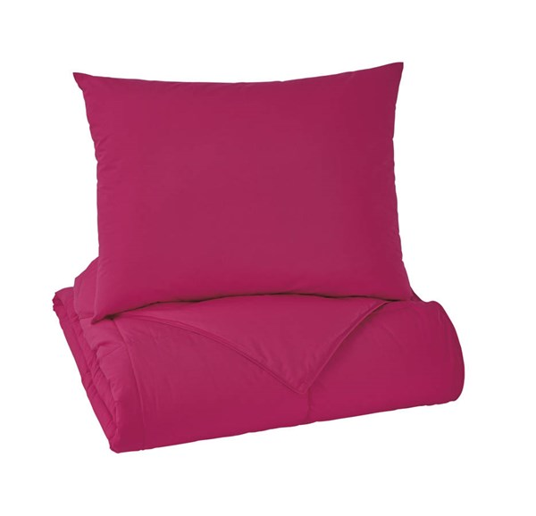 Plainfield Youth Magenta Twin Comforter Set Q759031T