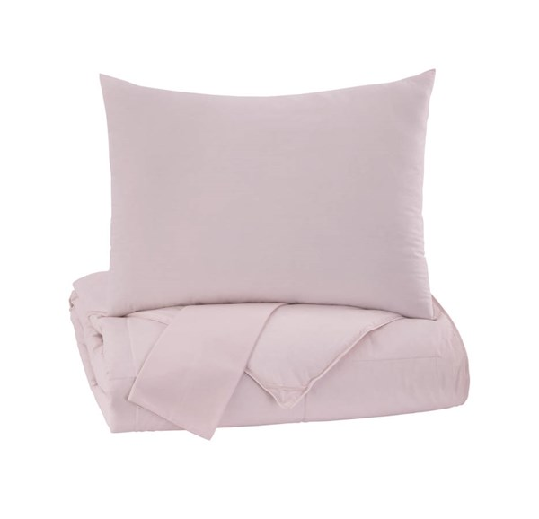Plainfield Youth Soft Pink Full Comforter Set Q759073F