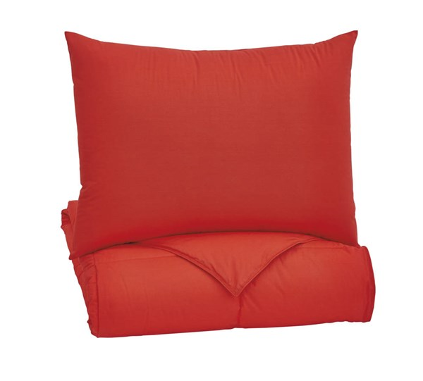 Plainfield Youth Red Twin Comforter Set Q759091T