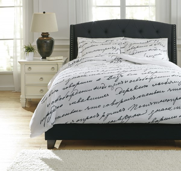 Amantipoint Contemporary White Gray Duvet Cover Sets AMANTIPOINT-VAR