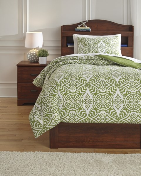 Ina Youth Green Twin Comforter Set Q766001T