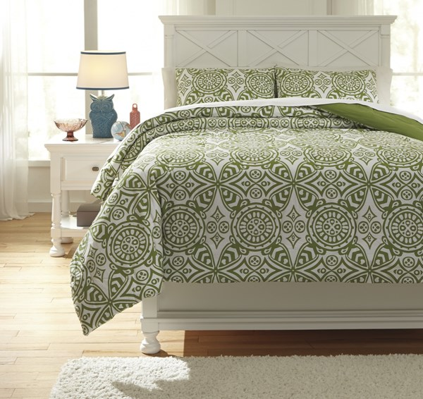 Ina Youth Green Full Comforter Set Q766003F