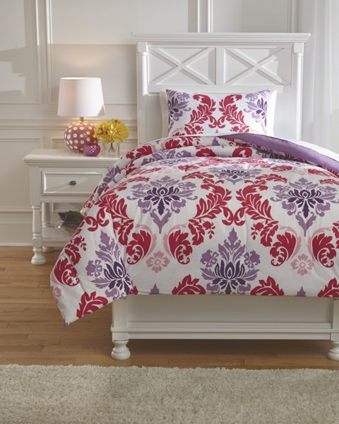 Ventress Youth Berry Twin Comforter Set Q777001T