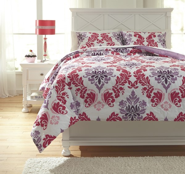 Ventress Youth Berry Full Comforter Set Q777003F