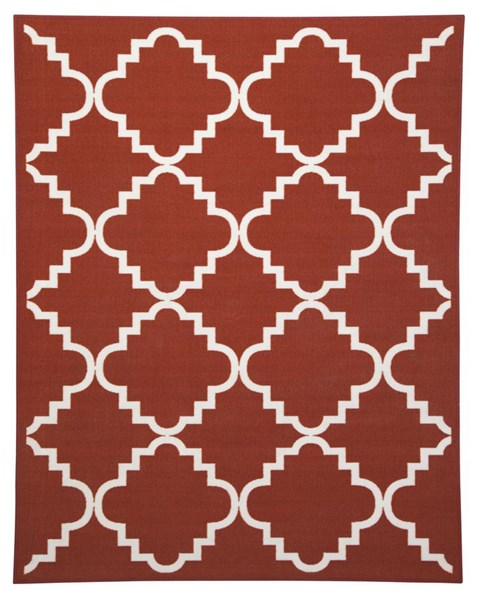 Bandele Transitional Orange White Medium Rug R307002