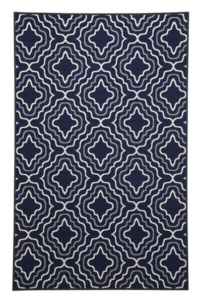 Nikalos Transitional Navy Polyester Medium Rug R325002