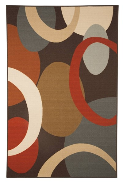 Acciai Transitional Brown Blue Fabric Medium Rug R335002