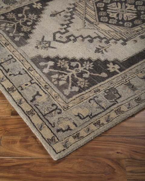 Dallan Traditional Classics Gray Fabric Hand Tufted Rugs R40001-RUG-VAR