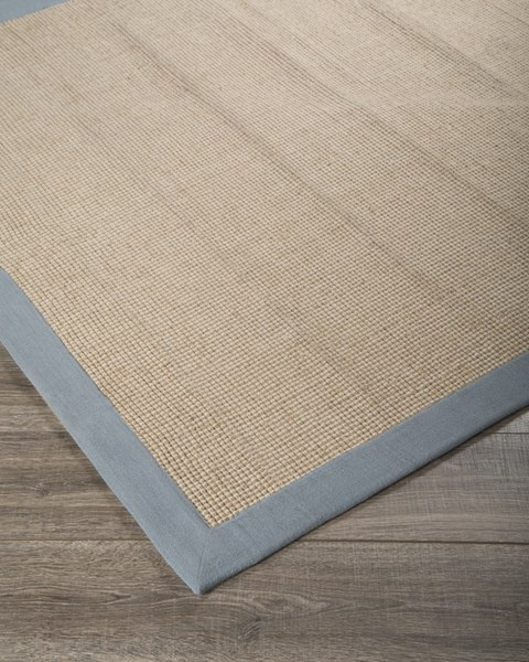 Ebenezer Vintage Casual Light Blue Fabric Large Rug R400031