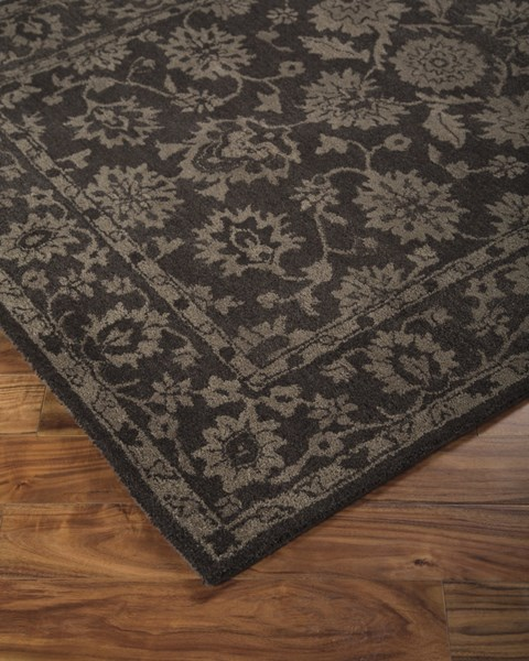 Iwan Traditional Classics Chocolate Fabric Large Rug R400071