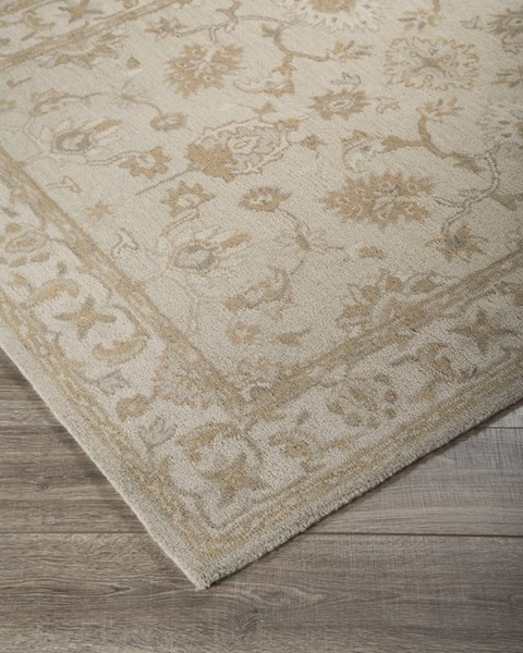 Hobbson Traditional Classics Tan Fabric Hand Tufted Rugs R40008-RUG-VAR