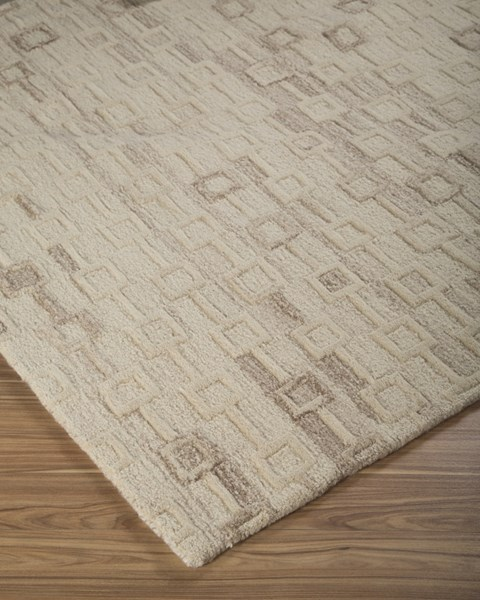 Newat Transitional Ivory Wool Cotton Large Rug (L 120 X W 96) R400121