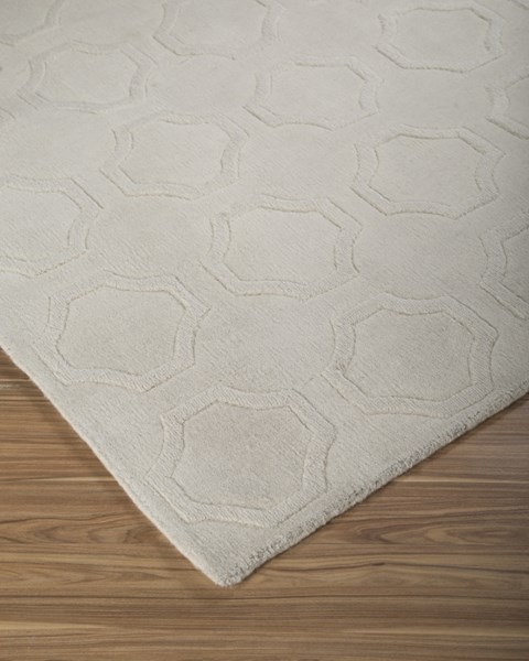Martyn Transitional Ivory Fabric Handwoven Large Rug R400291
