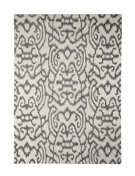 Benbrook Transitional Gray Ivory Fabric Hand Tufted Medium Rug R400302