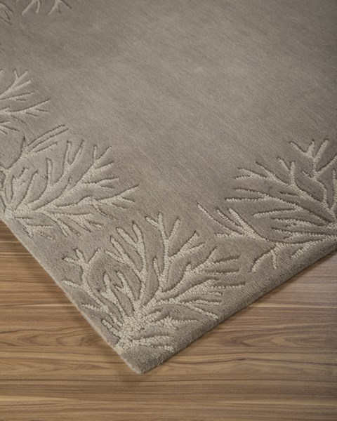 Kierin Transitional Brown Fabric Hand Tufted Medium Rug R400322