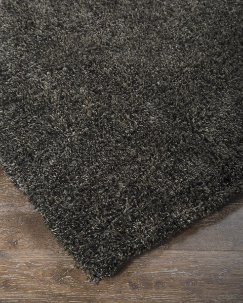Hermon Contemporary Black Polyester Machine Tufted Medium Rug R400342