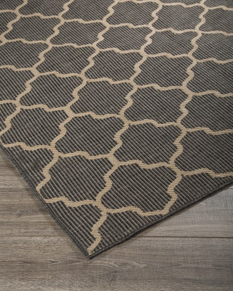 Daponte Vintage Casual Gray Polypropylene Medium Rug R400382