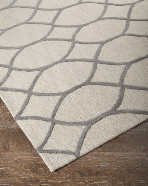 Lauder Transitional Cream Fabric Hand Tufted Rugs R40043-RUG-VAR