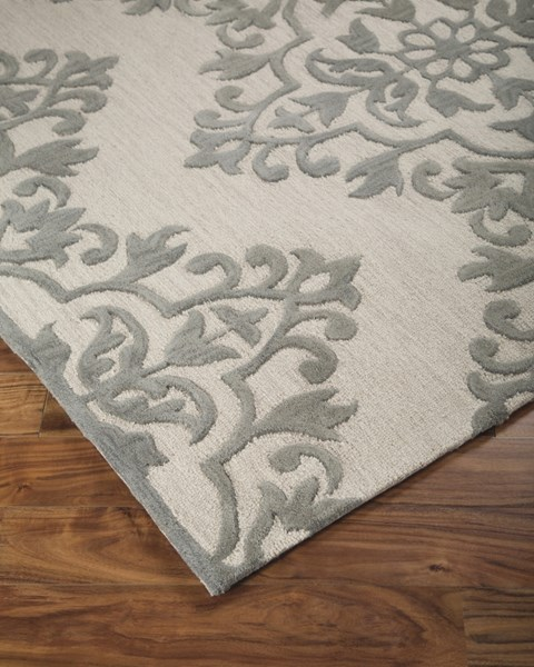 Bafferts Vintage Casual Tan Gray Fabric Hand Tufted Large Rug R400441