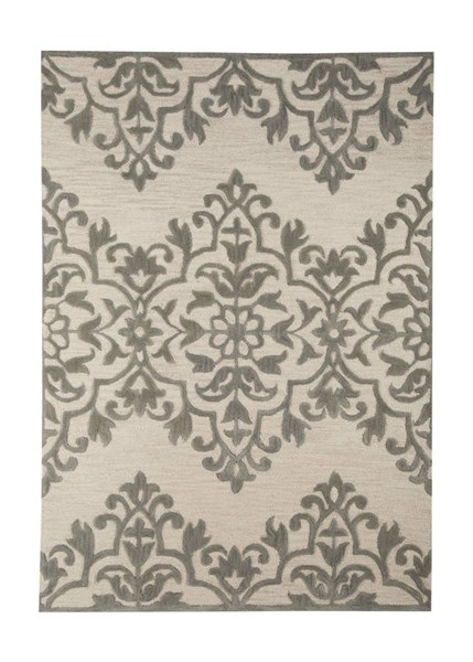 Bafferts Vintage Casual Tan Gray Fabric Hand Tufted Medium Rug R400442
