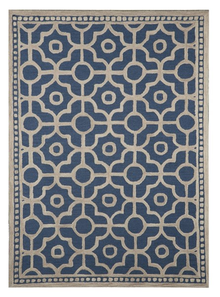 Bisbee Vintage Casual Blue Fabric Hand Tufted Large Rug R400451