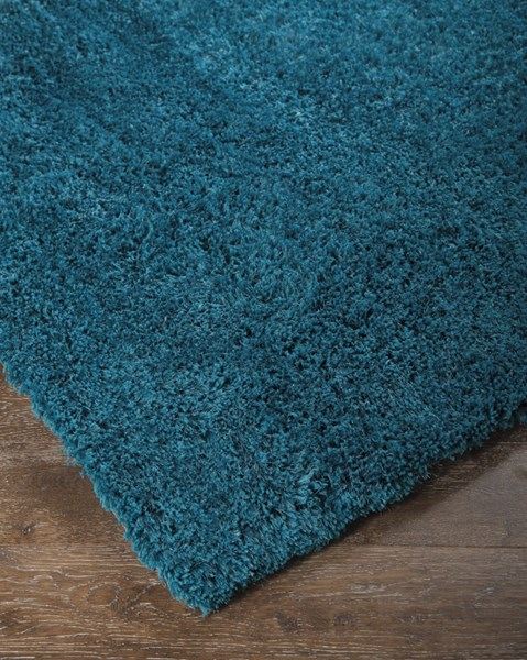 Alonso Contemporary Teal Polyester Jute Medium Rugs ALONSO-RUG-VAR