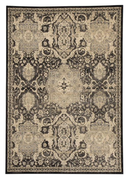 Anzhell Contemporary Black Polypropylene Woven Rugs R40105-RUG-VAR