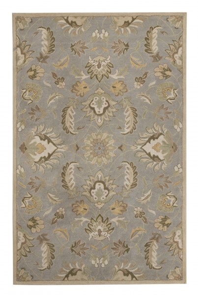 Flannigan Casual Sage Green Fabric Medium Rug R401102
