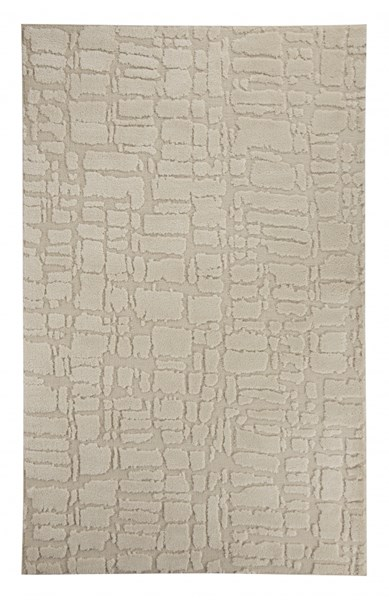 Dugan Transitional Cream Taupe Polyester Large Rug R401131