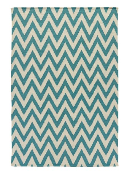 Flatweave Vintage Casual Teal Medium Rug R401212