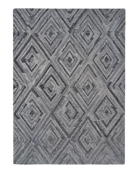 Woven Vintage Casual Gray Hand Tufted Medium Rug R401232