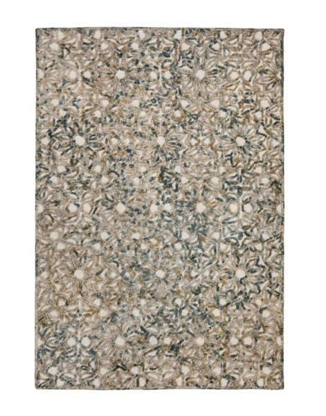 Textured Contemporary Green Fabric Medium Rug R401282