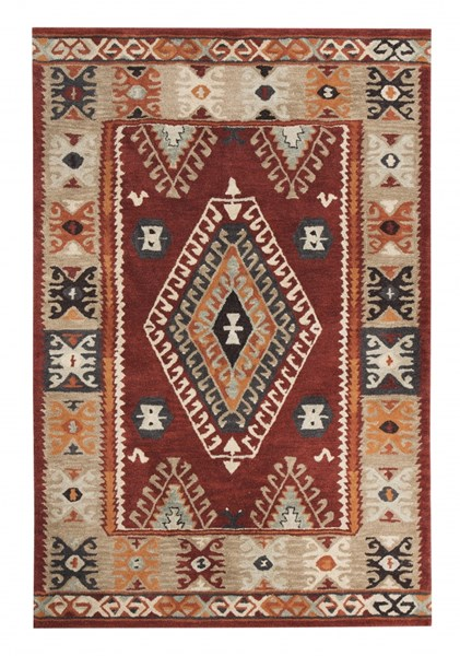 Oisin Traditional Brick Fabric Large Rug R401331