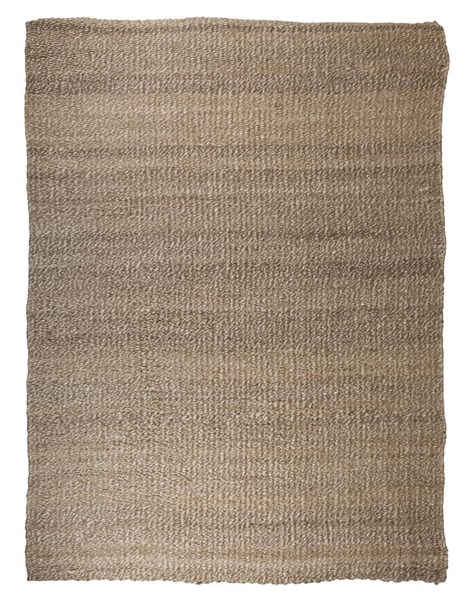 Textured Contemporary Tan White Jute Rug R4015-RUG-VAR