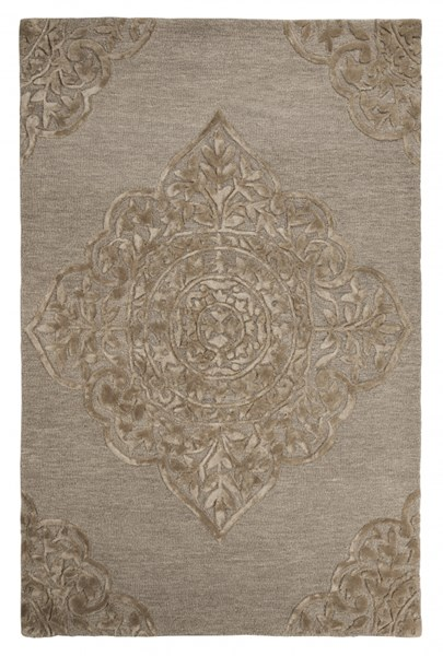 Zavier Traditional Taupe Fabric Large Rug R401511