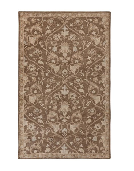 Vintage Transitional Brown Fabric Medium Rug R401552