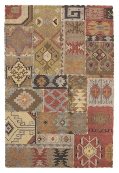 Posey Traditional Multi Fabric Medium Rug R401572
