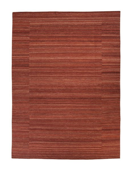 Flatweave Transitional Brick Red Medium Rug R401582