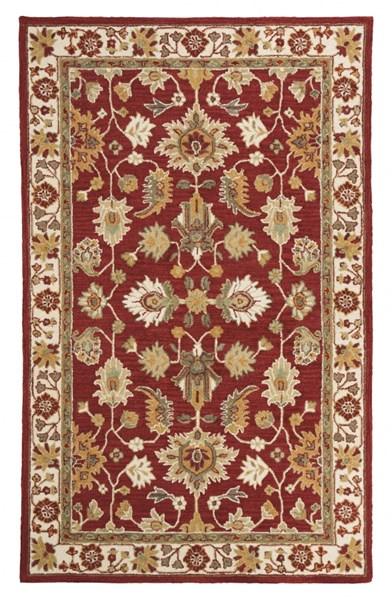 Scatturro Traditional Red Fabric Rugs R40164-RUG-VAR