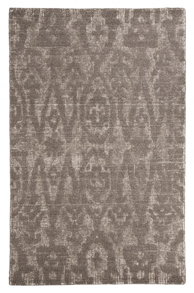 Finney Traditional Brown Fabric Large Rug R401691